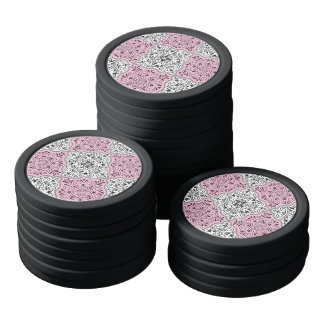Rosa Rokoko-Muster blühen Pokerchips