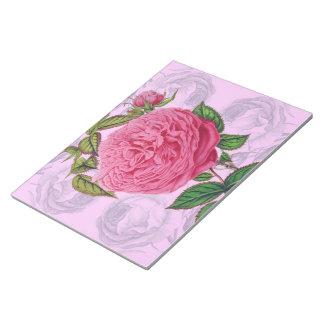 Rosa romantische Rose Notizblock