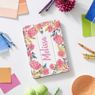 Rosa romantischer Girly Blumenfeld iPad Fall iPad Pro Cover