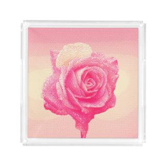 Rosa Rose (Comic-Buch-Halbtonart) Acryl Tablett