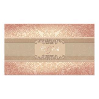 Rosa Rose elegante Hochzeits-Platzkarte Visitenkartenvorlagen