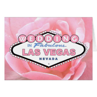 Rosa Rose HOCHZEIT in Las- Vegaskarte Grußkarte
