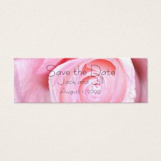 Rosa Rose, Save the Date Mini Visitenkarte