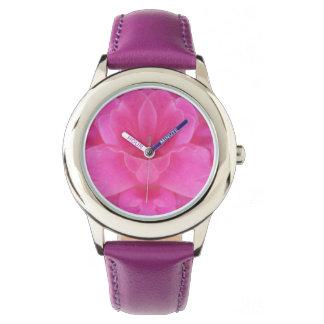 Rosa Rosemandala-Uhr Armbanduhr