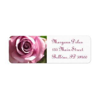 Rosa Rosen-Adressen-Etikett Rücksendeetikett