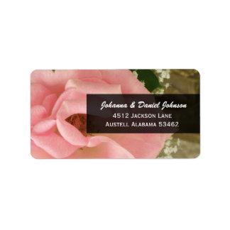 Rosa Rosen-Adressen-Etiketten Adressaufkleber