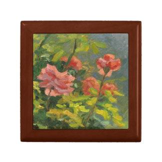 Rosa Rosen am Sonnenuntergang Erinnerungskiste