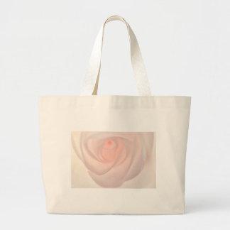Rosa Rosen-Auge Jumbo Stoffbeutel