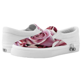 Rosa Rosen Beleg-auf Turnschuhen Slip-On Sneaker