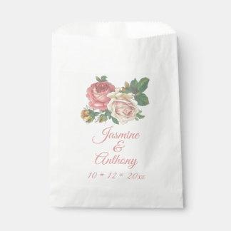 Rosa Rosen-Blumen-Hochzeit, Verlobungs-Party Geschenktütchen
