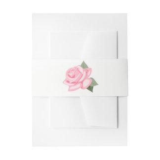 Rosa Rosen-Blumen-mit Blumenhochzeit Einladungsbanderole