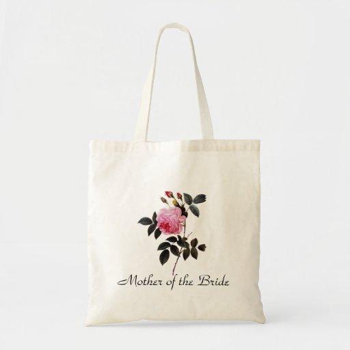 Rosa Rosen-Blumen, Pierre Joseph Redouté Einkaufstasche