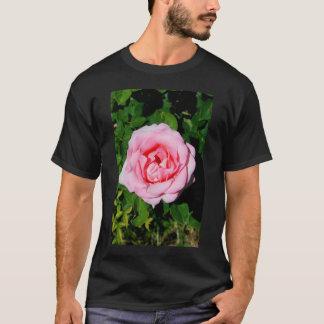 Rosa Rosen-Blumen-T - Shirt