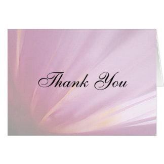 Rosa Rosen-Blumenblatt danken Ihnen zu kardieren Karte