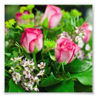 Rosa Rosen-Blumenstrauß Fotografie