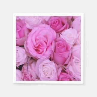 Rosa Rosen durch Therosegarden Papierservietten