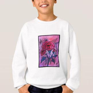 Rosa Rosen-Entwurf Sweatshirt