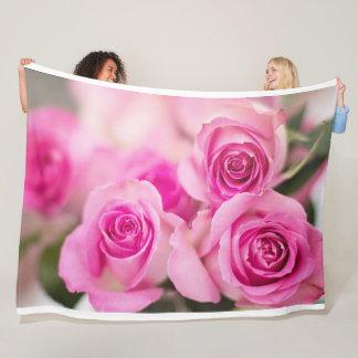 Rosa Rosen-Fleece-Decke Fleecedecke