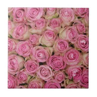 Rosa Rosen Funkelns durch TheRoseGarden Keramikfliese