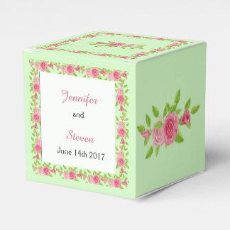Rosa Rosen-Gastgeschenk Hochzeits-Kasten Geschenkschachtel