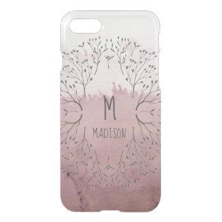 Rosa Rosen-Gold erröten BlumenOmbre Luxus-Muster iPhone 8/7 Hülle