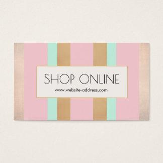 Rosa, Rosen-Gold Stripes fördernden Preis-Umbau Visitenkarte