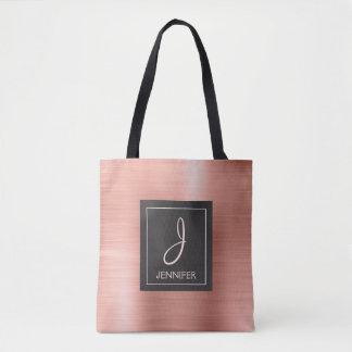 Rosa Rosen-Goldmetallelegante Tasche