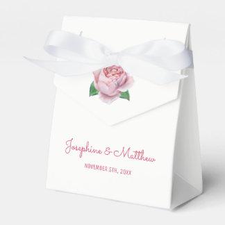 Rosa Rosen-Hochzeit Geschenkschachtel