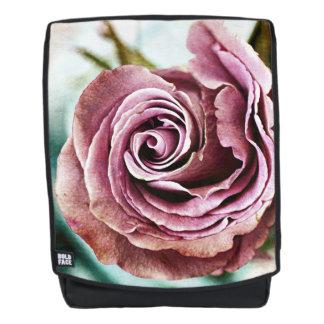 Rosa Rosen-kiesiges Vintages Rucksack