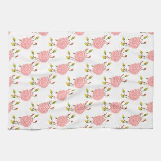 Rosa Rosen-Küchen-Tuch Handtuch