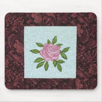 Rosa Rosen-Ministeppdecken-Block-Mausunterlage Mousepad