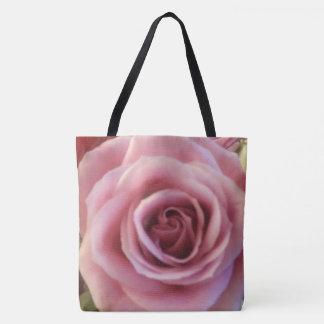 Rosa Rosen-nahe hohe Druck-Taschen-Tasche Tasche