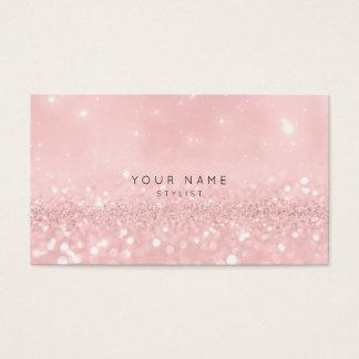 Rosa Rosen-Pulver-Glitter-funkelnd Stylist Vip Visitenkarte