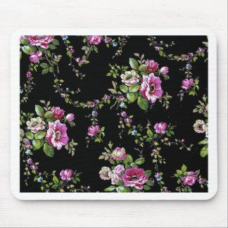 rosa Rosen schwarzes b ackground Mousepad