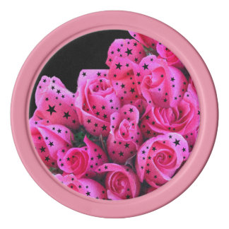 Rosa Rosen-Sterne Poker Chips Set
