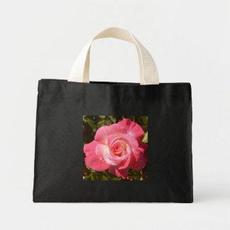 Rosa Rosen-Taschentasche Mini Stoffbeutel
