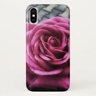 Rosa Rosen und Knospen iPhone X Hülle
