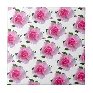 Rosa Rosen-Weiß Fliese