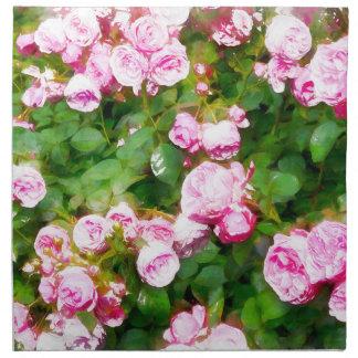 Rosa RosenWatercolor Serviette
