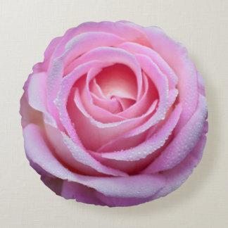 Rosa Roserundes Throw-Kissen Rundes Kissen