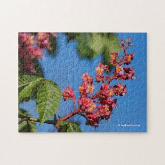Rosa Rosskastanie-Blüten Puzzle
