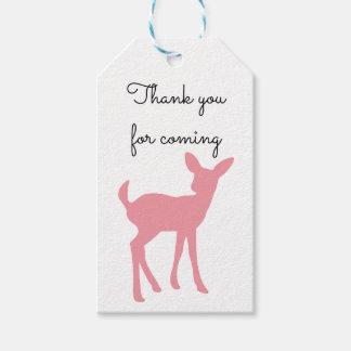 Rosa Rotwild danken Ihnen, Geschenk-Umbau zu Geschenkanhänger