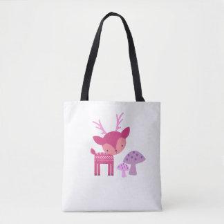 Rosa Rotwild-und Pilz-Tasche Tasche