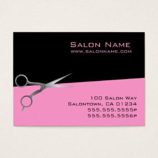 Rosa Salon-Geschäft und Lochkarten Visitenkarte