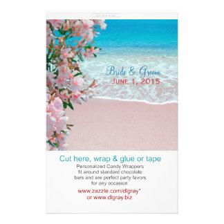 Rosa Sand-Strand-Bonbonpapiere Individuelle Flyer