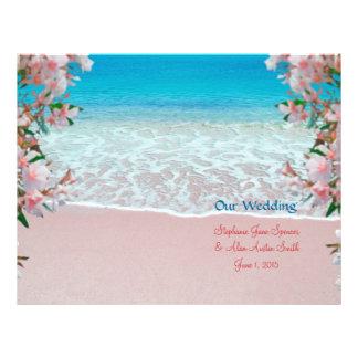 Rosa Sand-Strand-Hochzeits-Programm-Flyer 21,6 X 27,9 Cm Flyer