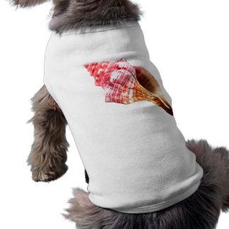 Rosa Sandy-Tritonshorn-Muschel T-Shirt