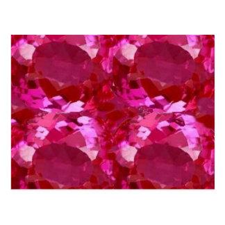 Rosa Saphir Birthstone Septembers durch Sharles Postkarte