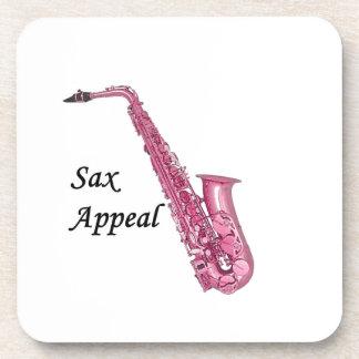 Rosa Saxophon Untersetzer