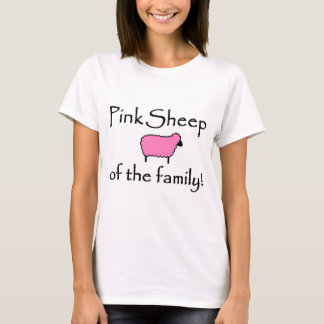 Rosa Schafe der Familie T-Shirt